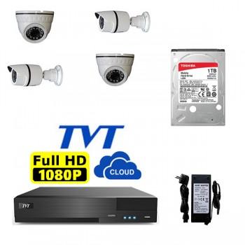 ΠΑΚΕΤΟ CCTV 4 ΚΑΜΕΡΕΣ HD ΜΟΝΟ ΜΕ 390 ΕΥΡΩ